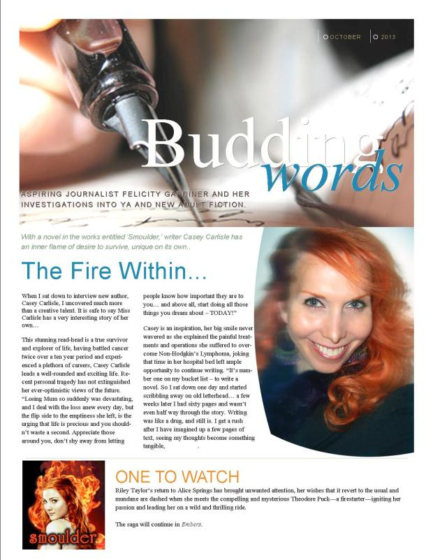 'The Fire Within' An interview with Casey Carlisle by Felicity Gardiner Page 1