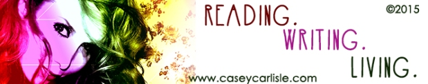 Reading Writing Living banner by Casey Carlisle