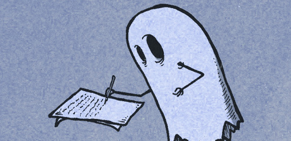 Ghost writing Pic 01 by Casey Carlisle